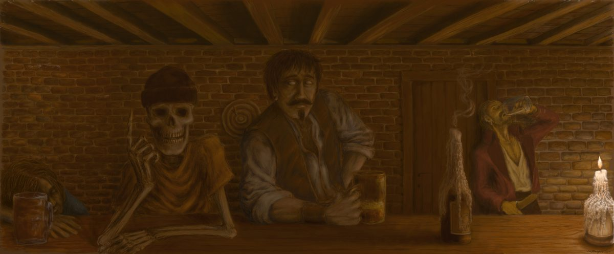 """As histórias de piratas e homens que viviam no mar sempre renderam bons contos e lendas. E para aproveitar o """"barco"""", aqui vai uma ilustração com este tema."""